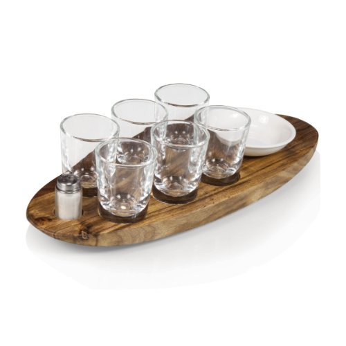 (Legacy-A Picnic Time Brand Cantinero 6-Shot Glass Serving Set)