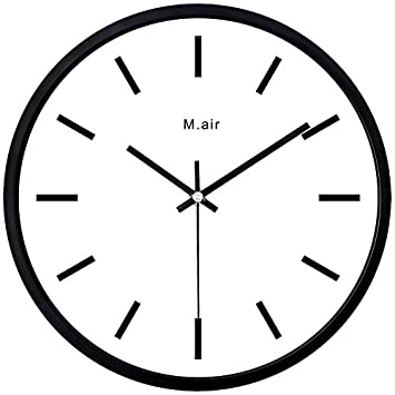 Amazon.com: Ysayc Metal Wall Clock Bedroom Living Room Simple Creative Quartz Clock, Simple Metal Drawing: Home & Kitchen