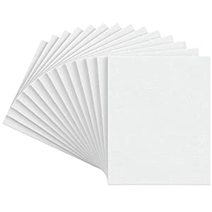 Arteza Painting Canvas Panels, 8×10, Set of 14, Primed White, 100% Cotton with Recycled Board Core, for Acrylic, Oil, Other Wet or Dry Art Media, for Artists, Hobby Painters, Kids