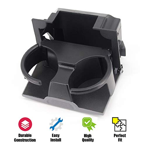 USTAR Cup Holder for 2005-2012 Pathfinder 2005-2015 Xterra 2005-2019 Frontier Replaces 96965-ZP00C Rear Seat Center Console Box (Gray) (Color: Gray)