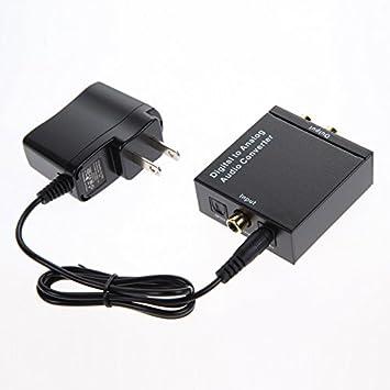 Coaxial o Toslink Digital a analógico convertidor de audio fibra óptica coaxial RCA Toslink señal a analógico Audio Adaptador con Cable: Amazon.es: ...