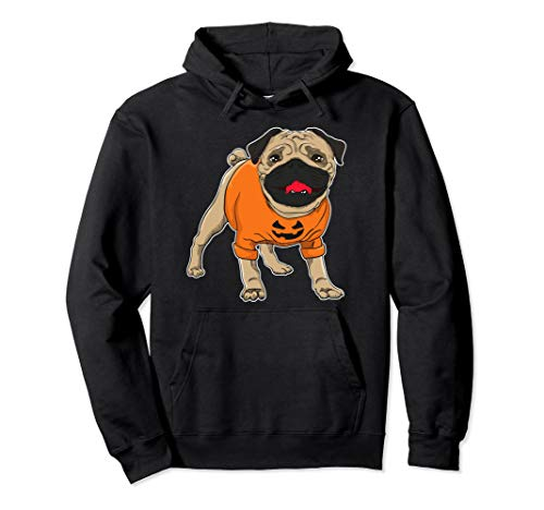Cute Pugkin Funny Halloween Pug in Costume Pullover -