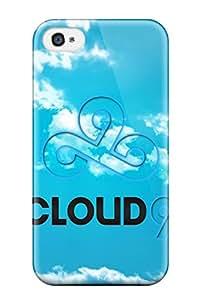 Jose de la Barra's Shop New Style Defender Case For Iphone 4/4s, Simple Blue Logo For Cloud 9 Team (league Of Legends) Pattern