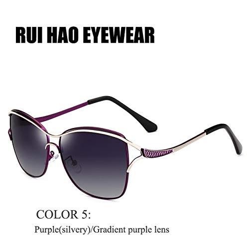 Polarized Jewelry Drivers (Kasuki Brand Fashion Sunglasses Polarized Sunglasses Women Popular Pilot Sun Glasses oculos de sol KM8116 - (Lenses Color: COLOR 5))