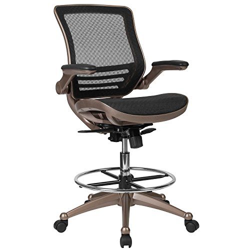 Flash Furniture Drafting Chair | Adjustable Height Mid-Back Mesh Drafting