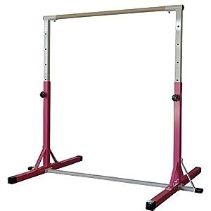 Nimble Sports Pink Premium Adjustable Horizontal Bar Gymnastics Junior Bars