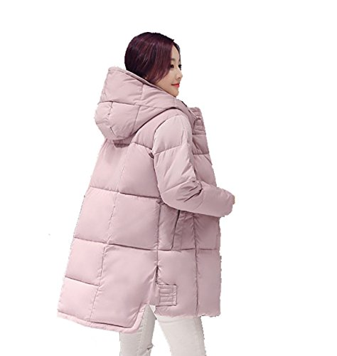 Chaqueta De Algodón De Gran Tamaño De Las Mujeres Collar Redondo Multi-color Multi-tamaño Pink