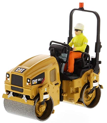 (Diecast Masters CAT Caterpillar CB-2.7 Utility Compactor with Operator High Line Series 1/50 Diecast Model 85593)