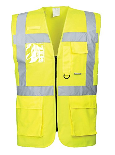 Portwest Hi Berlin Workwear Vest, 5X-Large, Yellow by Portwest