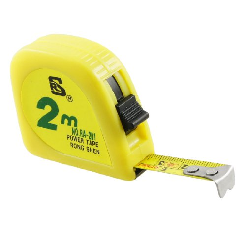 uxcell Yellow 2 Meters 6FT Scale Steel Retractable Measuring Tape