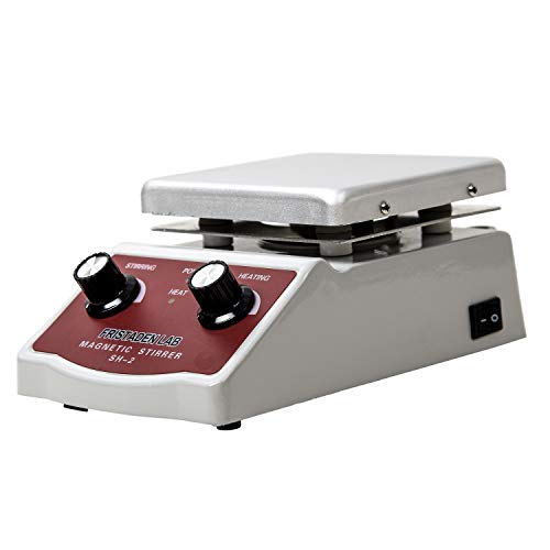 - Fristaden Lab SH-2 Laboratory Magnetic Stirrer Hot Plate Mixer, 2,000mL, 100~1600RPM, 180W Heating Power 350°C Max Independently Controls Temperature and Speed 1 Year Warranty