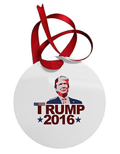 TOOLOUD Trump 2016 Face Circular Metal Christmas Ornament