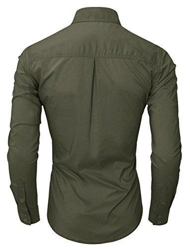 Camicie Di Casual Vestito Mens kaki Ware us Twcs05a Tam Lusso M Base 1qXInR