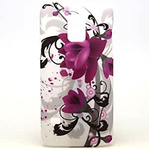 TOPAA Purple Speaker Flowers Pattern Hard Plastic Case for Galaxy Samsung S5 mini