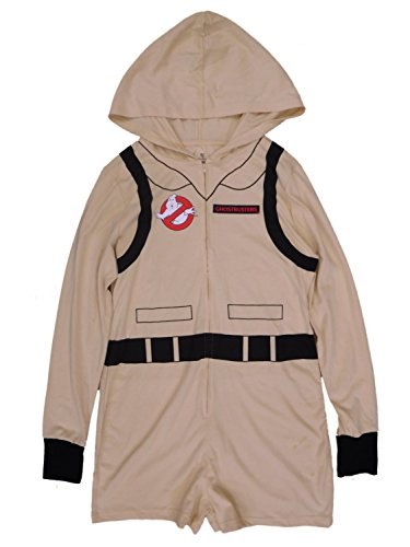Ghostbusters Junior Womens Retro Halloween Costume Jumpsuit Hooded