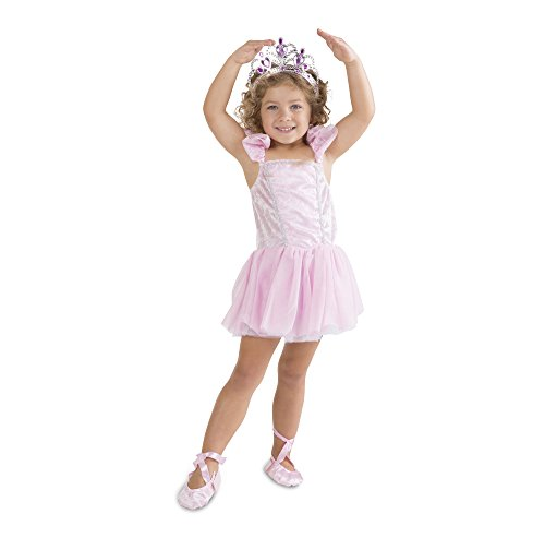 Melissa & Doug Ballerina Role Play Costume Set (6 pcs) - Includes Ballet Slippers, (Slippers Outfit)