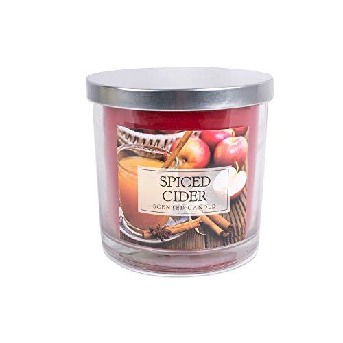 DII Z01477 3-Wick Evenly Burning Highly Scented Jar Candle, Spiced Cider