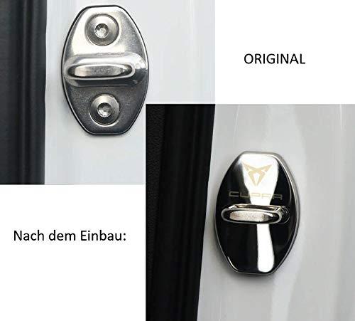 4X T/ürschloss Abdeckung Door Cover Leon Cupra Schwarz Neu