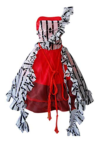 Ya-cos Halloween Masquerade Alice Tim Burton Red Court Dress Costume]()