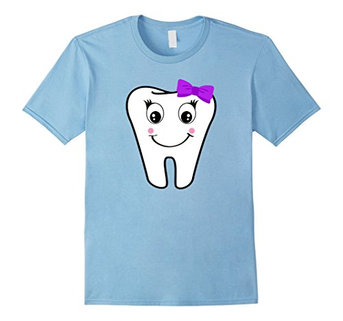 Molar Costumes (Mens Tooth Fairy Molar Halloween Costume T-shirt Medium Baby Blue)