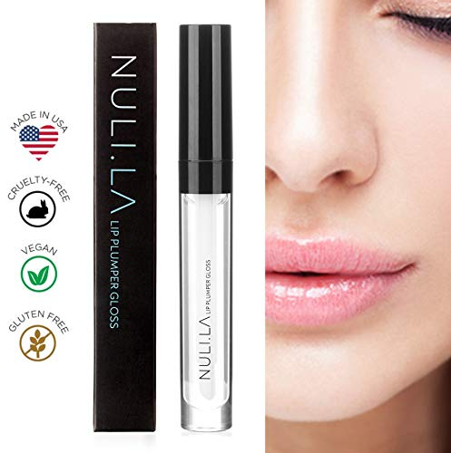 Nuli La Lip Plumper Lip Gloss is all Natural Serum with Vitamin E, Antioxidants and Hydrating Skin Conditioning Agents for Pouty Shiny Lips - Lip Plumpers that Really Work (Best Rated Lip Plumper)