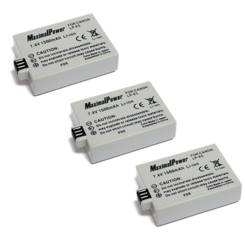 Maximal Power DB CAN LP-E5 X3 Battery, (Black)