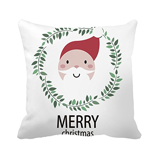Poppylife New Year Christmas Father Natural Cushion Cover Indoor Sofa Car Home Throw Pillow Cover s,20