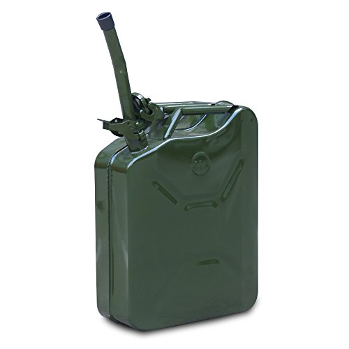 jerry can 5 gallon 20l nato style green oil fuel gas steel. Black Bedroom Furniture Sets. Home Design Ideas