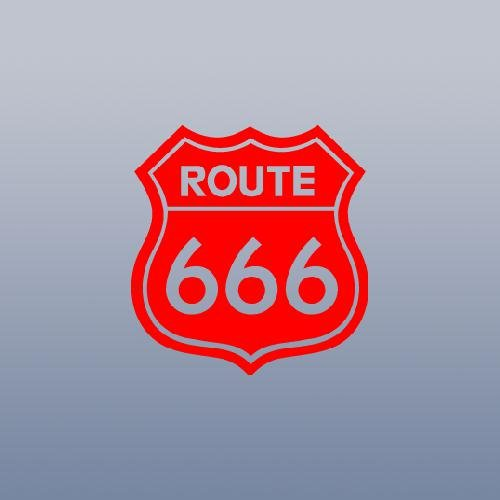 (DECORATION AUTO VINYL CAR NOTEBOOK WALL ART CAR WINDOW LAPTOP DECOR DECAL STICKER ROUTE 666 SATANIC ROB ZOMBIE DEVIL ADHESIVE VINYL WALL BIKE)