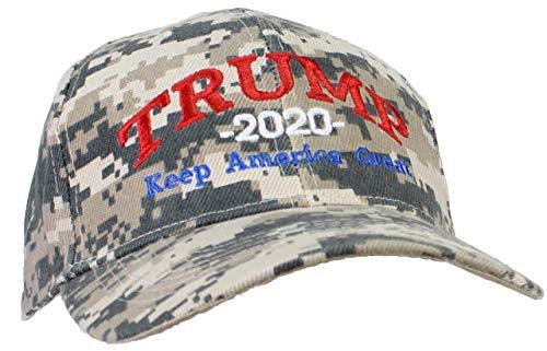 Tropic Hats Adult Embroidered Trump 2020 Keep America Great Campaign Cap - Digital Camo W/RWB Thread