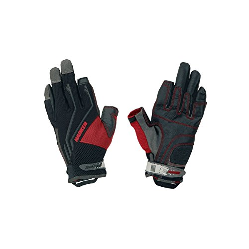 - HARKEN Sport Men's Full Finger Reflex Gloves, Black, X-Large