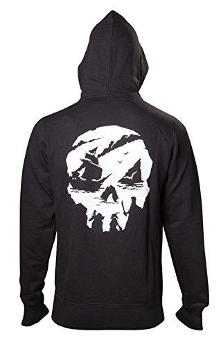 Sweatshirt Skull Of Thieves Logo Sea Black Hoodie RqEPtZw
