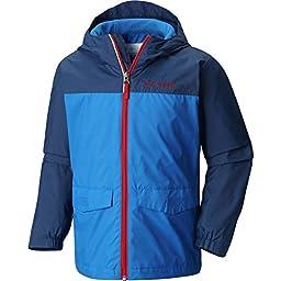 Columbia Big Boys\' Rain-Zilla Jacket, Super Blue/Carbon, Medium