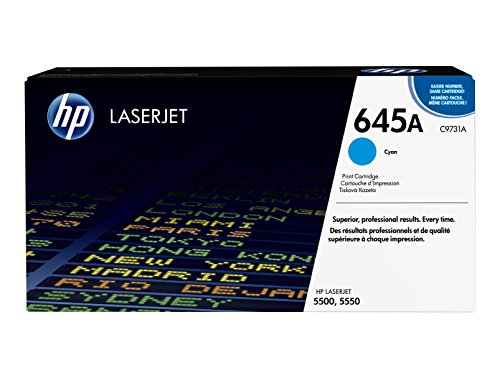 HP 645A (C9731A) Cyan Toner Cartridge for HP Color LaserJet 5500 5550