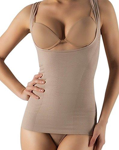 coppes maggiorato senza up seno modellante modellante open senza Nudo aperta Canotta contenitiva cuciture TBFw1xqAcc