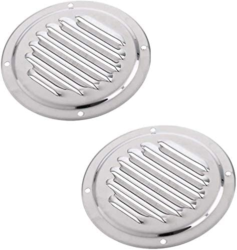 Surmeny Marine Round Louvered Vent 4 Stainless Steel Marine Boat Vent 102mmCaravan Vent Suit 2PCS for Marine Boat Yacht Accessories