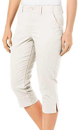 Gloria Vanderbilt Capri Pants (Gloria Vanderbilt Womens Rhea Capris 12 Pebble Stone Beige)