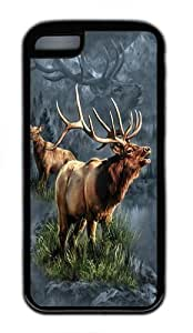 iPhone 5C Case,Elk Protector TPU Rubber Soft Case Back Cover for iPhone 5C Black