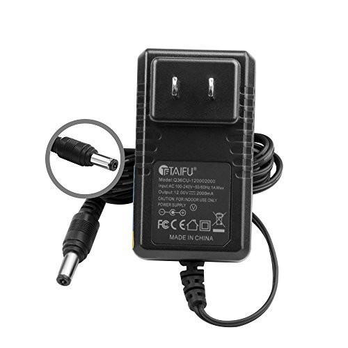 TAIFU 12V AC Adapter for Crosley Radio CR49 CR49-BT CR49-TA CR249 CR249-TA CR32CD CR6233A CR6233A-RE CR7002A CR7002A-PA Tech Turntable Record Player I.T.E switching power supply cord (Players Crosley Record)