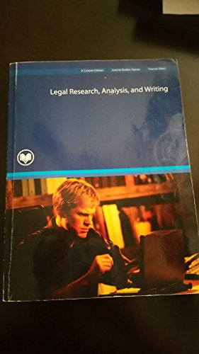 Legal Research, Analysis, and Writing (Custom)