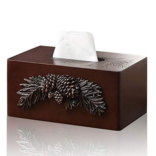 HEMFV Wooden Tissue Box Tiled Design Facial