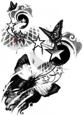 Mariposas estrellas – Tatuajes temporales por temptatz: Amazon.es ...