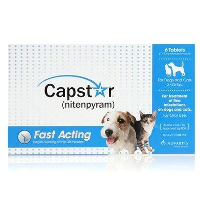 Novartis Capstar Flea Killer Over 25lbs - 6 pack Flea & Tick