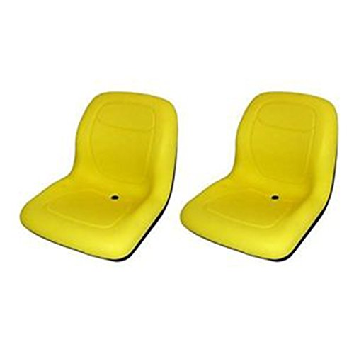 Two (2) New Yellow John Deere Gator Lawn Garden Seats 4x2 & 6x4 by Aftermarket John Deere, JD