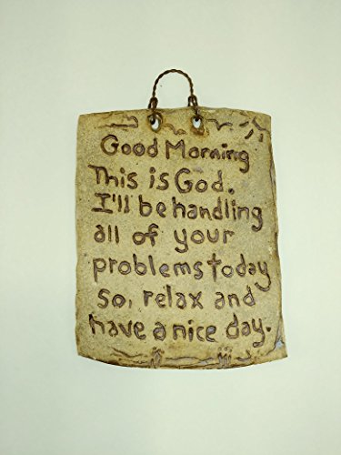 Will Gods Tile (Aunt Chris' Pottery - Hand Made Plaque - Rustic Bible Clay Sign -