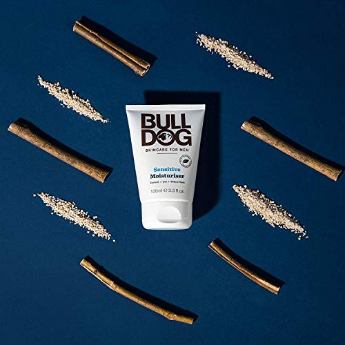Bulldog Mens Skincare and Grooming Sensitive Full Face Kit with Moisturizer, Face Wash and Face Scrub, 3 Count
