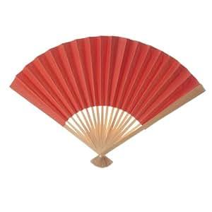 Koyal Wholesale Decorative Paper Fans, Orange Tangerine, Set of 50