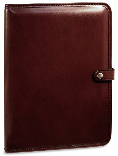 Jack Georges Milano Collection Letter Size Writing Pad, Snap Closure in Cherry by Jack Georges
