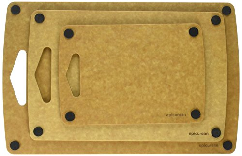 Prep Series Nonslip Cutting Boards by Epicurean, 3 Piece, Natural