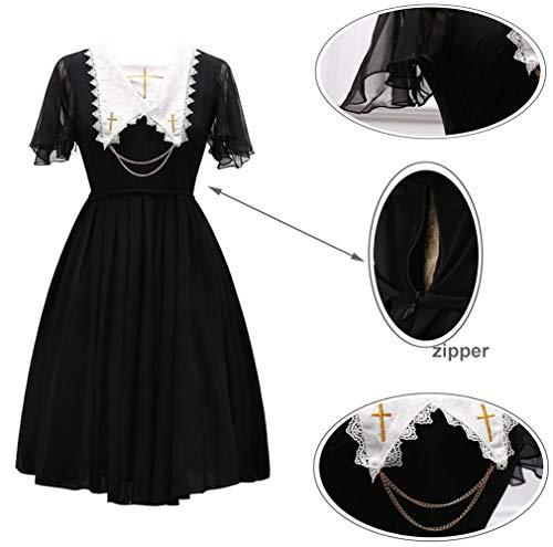 Lolita Costume Nspstt Religioso Medievaleabito Gotico Cosplay Steampunk Donna Abito Rosso Da qaYwa7t